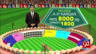PSL Final: Know your sitting place in Gaddafi Stadium 01-03-2017 - 92NewsHDPlus