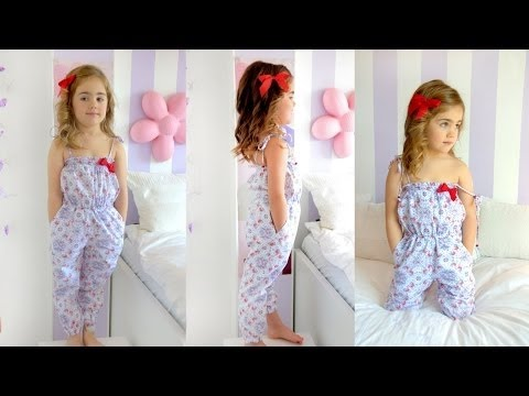 SEWING TUTORIAL: How to sew a long jumpsuit for babies and toddlers