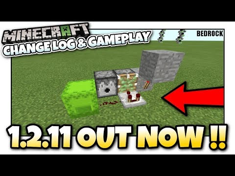 Minecraft - 1.2.11 BEDROCK UPDATE OUT NOW! [ Change log & Gameplay ] MCPE / Xbox / Bedrock