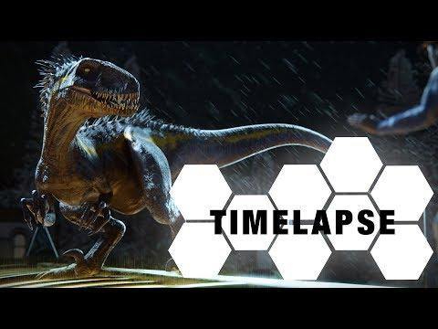 Indoraptor - sculpting, texturing, rigging(Blender & Substance Painter Timelapse)