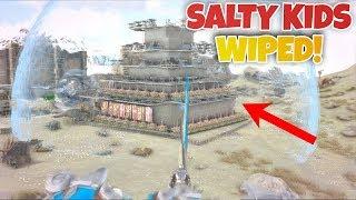 SALTY Kids Get Wiped!!! (Ark XBOX Unofficial PvP #10!)