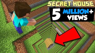 I MADE A SECRET HOUSE NO ONE WILL ABLE TO FIND | MINECRAFT IN HINDI GAMEPLAY | AYUSH MORE