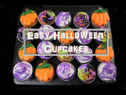 Easy Halloween Cupcakes | CHELSWEETS