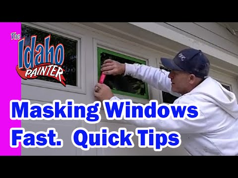 Masking Windows Fast.  How to use a painters hand masker.  How to mask windows.