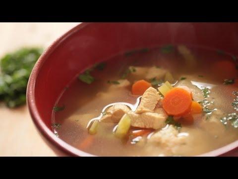 Easy Matzo Ball Soup Recipe || KIN EATS