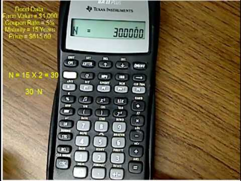 Finding a Bond's Yield Using the Texas Instruments BA-II Plus Calculator.