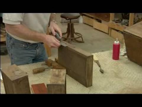 Repairing Wood Veneer Furniture : Cutting Out Bad Veneer