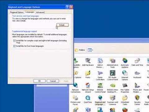 How to Add Farsi in Windows XP