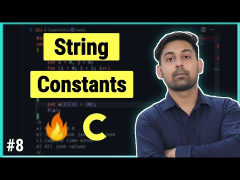 #5.4 String Constants In C ( Hindi ) By Nirbhay Kaushik