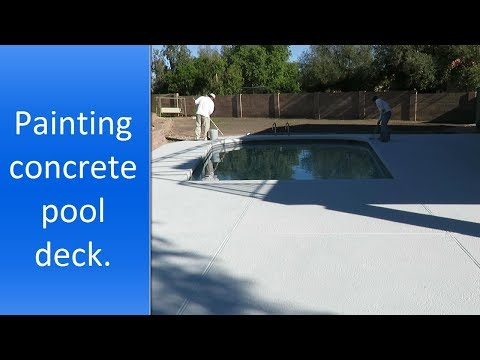 Pool deck painting in Scottsdale AZ.