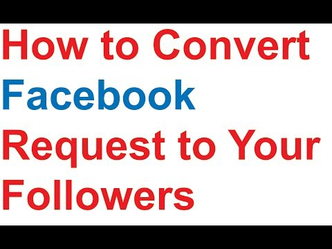 Convert facebook request to your Follower or How to accept friends as your Followers
