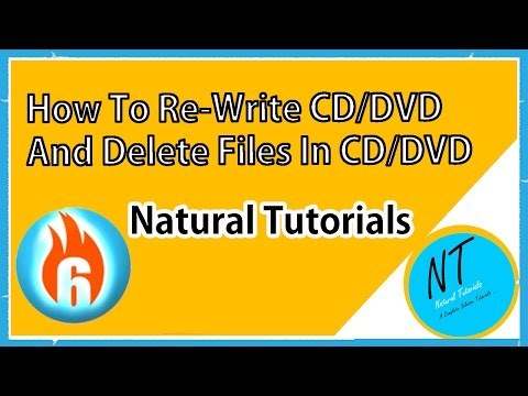 How To Delete Some Files From DVD Or CD And Rewrite The CD DVD Using Ashampoo Burning Studio