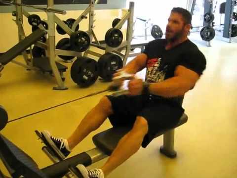 Frankie Paulk Showing You He Does Cable Rows