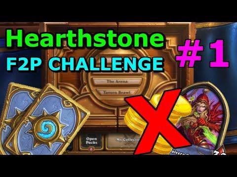 [Hearthstone] F2P Challenge #1 - A grindy start!