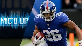 """Saquon Barkley Mic'd Up vs. Redskins """"That's AP bro, you ever watch his highlights?""""   NFL Films"""