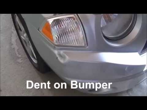 Easily Repair a dent on your car with hot water or hair dryer