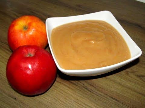 Apple puree, Homemade Apple Puree recipe, Baby Applesauce - Baby food recipe