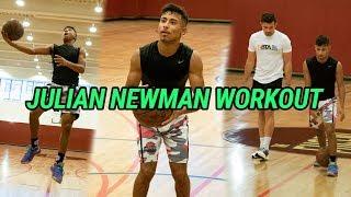 Julian Newman Prepares To Play LAMELO BALL Tomorrow! Full Workout With DJ Sackmann 🔥