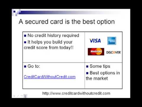 How to apply for a credit card: Credit cards for people with no credit