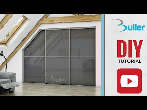How to fit a sliding door wardrobe door with a sloping using Placard - DIY Video Tutorial