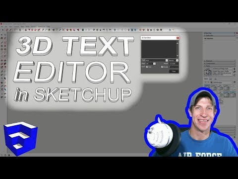 EDITABLE 3D TEXT IN SKETCHUP with 3D Text Editor
