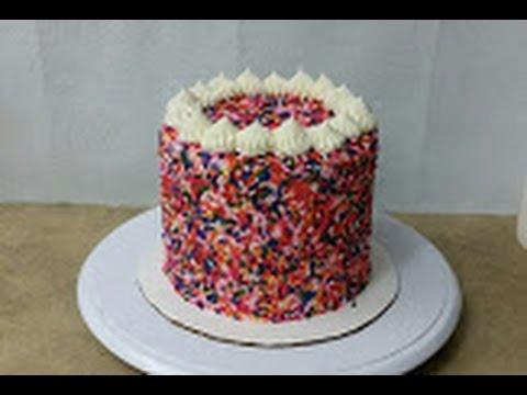 FUNFETTI SPRINKLES CAKE.