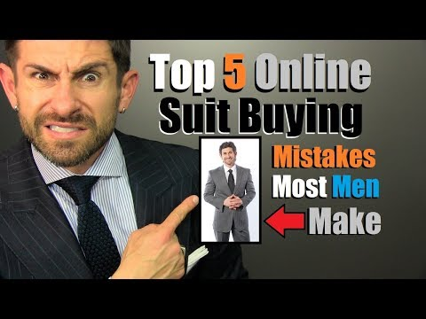 TOP 5 Suit Buying Mistakes MOST Men Make! (A MUST SEE)
