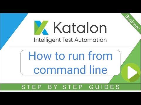 Katalon Studio 12 - How to run from Command Line