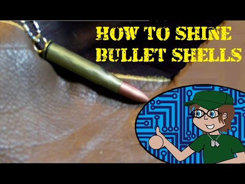 How to shine bullet shells / How to make a bullet shell necklace pt.2