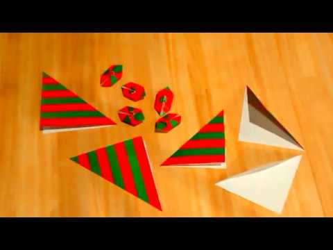 Making Origami Christmas Ornaments
