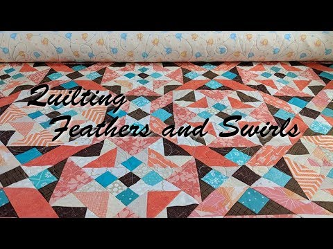 Quilting Feathers and Swirls