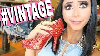 VINTAGE SHOPPING FOR THE FIRST TIME! (a mess lol)