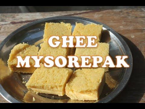 How to Make Mysorepak Recipe - Melt in Mouth Ghee Mysorepak Recipe