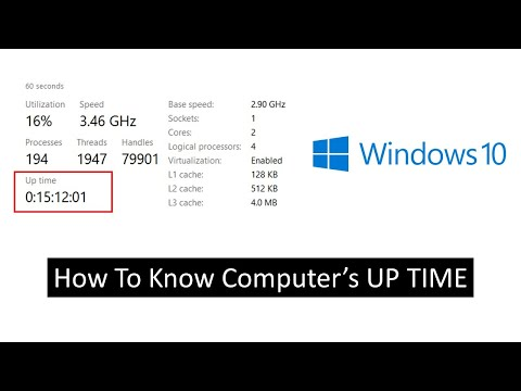 How to Check Your Computer Running Uptime | Windows 10 Tutorial
