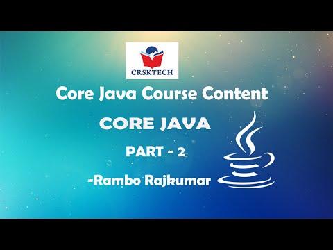 Core Java Syllabus Content || Part-2 || R.Rajkumar