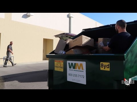 Dumpster Diving During Store Hours