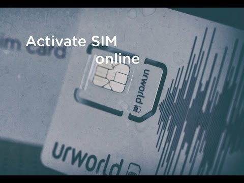 Register Urworld SIM Card online for a New Customer