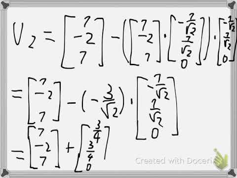 Gram Schmidt Example 1