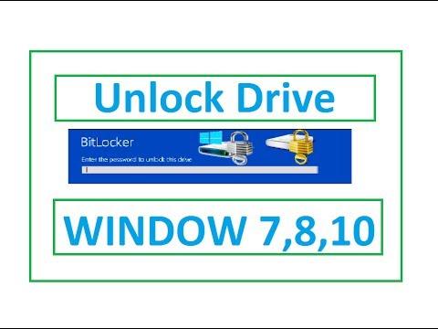 How to unlock drive from bitlocker in window 7 | Urdu tuturial | 2017