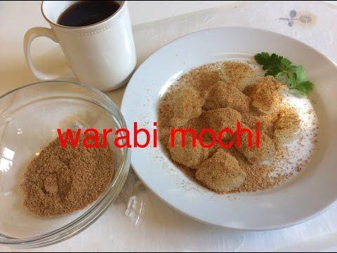 How to make Warabi Mochi Cake with soybean powder