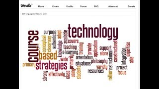 Creating a Word Cloud Using Wordle