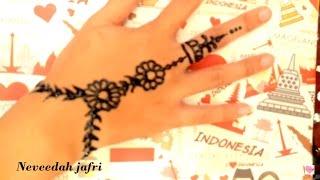 Gambar Henna Yang Simple Dan Mudah Ditiru