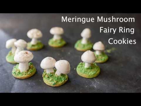 Meringue Mushroom Sugar Cookie Fairy Ring Tutorial