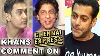 Salman Khan & Aamir Khan comment Shahrukh Khan