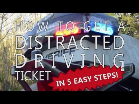 How to get a distracted driving ticket