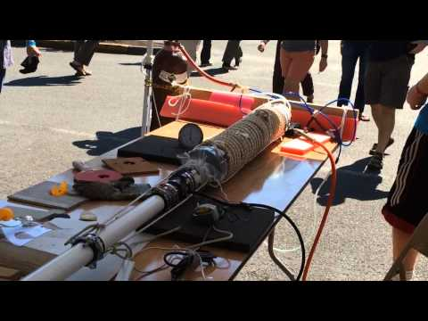 Shooting pingpong balls at twice the speed of sound: 2015 Mini Maker Faire