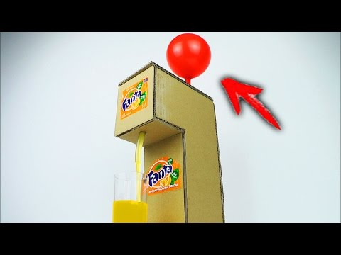How to Make Fanta Soda Fountain Machine Using Balloon