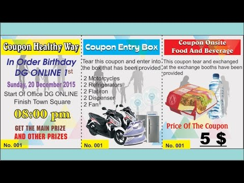Make Healthy Walk Coupon Design With CorelDraw Software