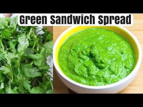 Healthy Green Spread For Sandwich | Green Sandwich Spread | Green Chutney Side | Green Chutney