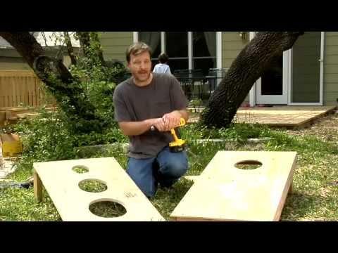 How to Make a Bean Bag Toss, Daddy DIY - Video